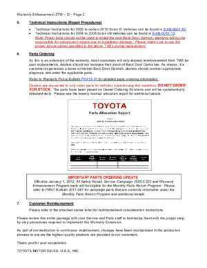 19001 2005 : To All Toyota Dealer Principals, M Fixed-Ops