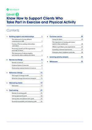 Got it level 2 : Level2 Know How to Support Clients Who Take Part in Exercise