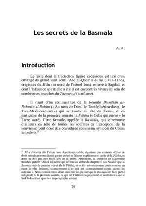 Livre du secret de surate yasin : Les secrets de la Basmala users skynet be