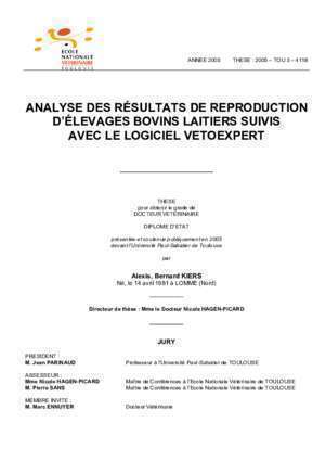 Performance zotechnique : ANALYSE DES RÉSULTATS DE REPRODUCTION D ÉLEVAGES
