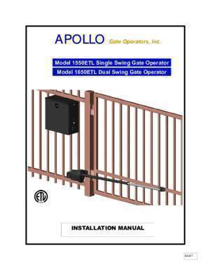 Apollo : Apollo 1550 Manual Gate Access Supplier