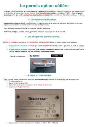 code rousseau permis bateau cotier notices et pdf gratuits. Black Bedroom Furniture Sets. Home Design Ideas