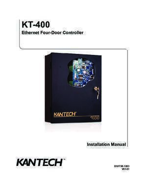450 2003 kt : KT-400 Installation Manual DN1726 kantech com