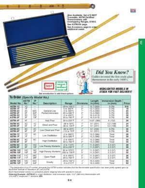 Astm e 119 : ASTM Certified Glass Thermometers 18 Tuner