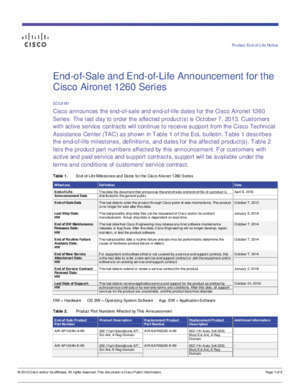 11a c : End-of-Sale and End-of-Life Announcement for the