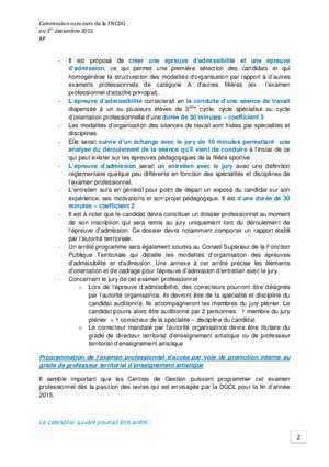 Candidatsdu cycle b professionnel : Documents concours FNCDG