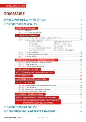 Attestation d assurance auto : Conditions Générales Direct Assurance