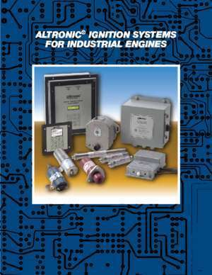 Altronic : ALTRONIC IGNITION SYSTEMS FOR INDUSTRIAL ENGINES