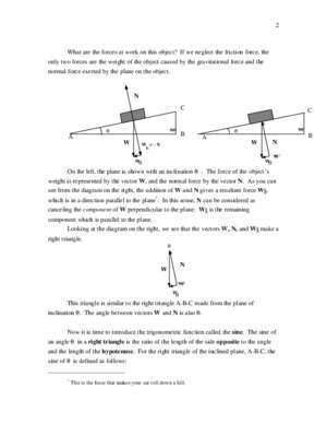 1313 : Vectors and the Inclined Plane SMU Physics