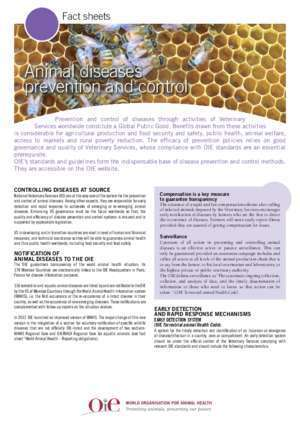 14056 : Animal diseases prevention and control Home OIE