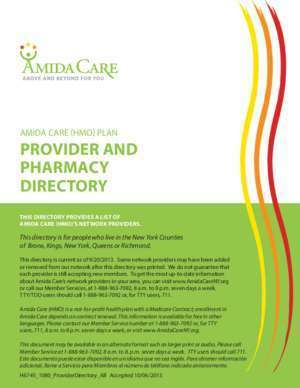 Amida : AMIDA CARE (HMO) PLAN PROVIDER AND PHARMACY