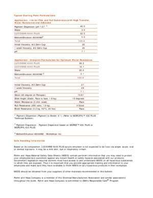 LUCIDENE? 4045 PLUS - Dow Chemical Company