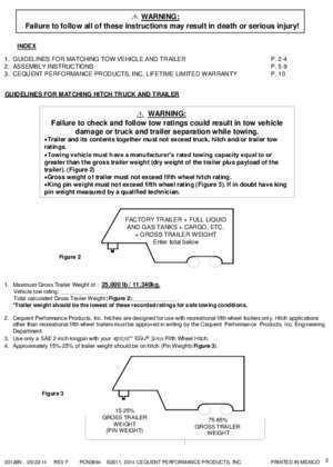 INSTALLATION INSTRUCTIONS MOUNTING KIT PART NUMBER FORD F250