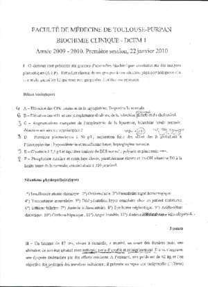 Cours de biochimie clinique - Document PDF
