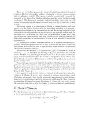 Chapter zero abstract mathematics : Polynomial Approximation statsci org