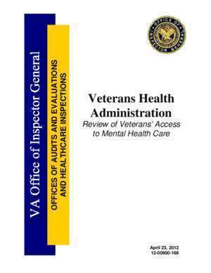 Access 12 : Review of Veterans Access to Mental Health Care va gov