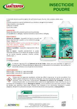 Insecticide : Insecticide poudre Saniterpen