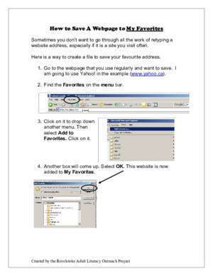 How to Save A Webpage to My Favorites - Okanagan
