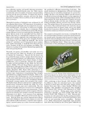 News of the Lepidopterists' Society Conservation