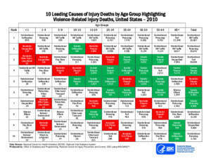3782 : 10 leading causes of injury deaths by age group