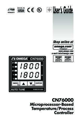 CN76000 Series 1/16 DIN Controller - OMEGA Engineering