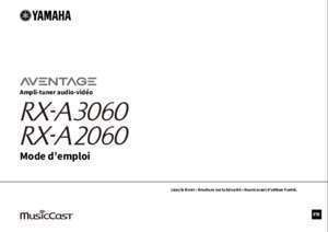 Notice supra energy electronic 3001 : Mode d emploi Yamaha