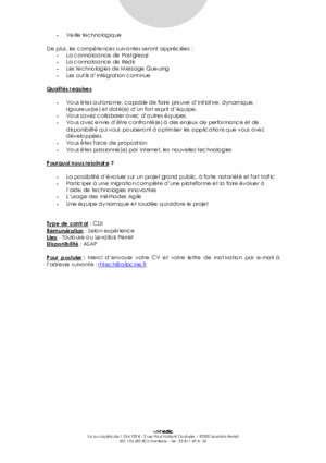 developpeur php/symfony h/f allocine - cdi - Webedia