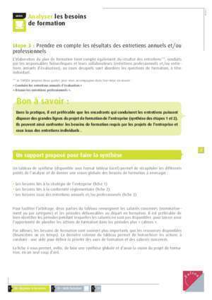 Besoin individue : GUIDE Analyser les besoins de formation fafsea com