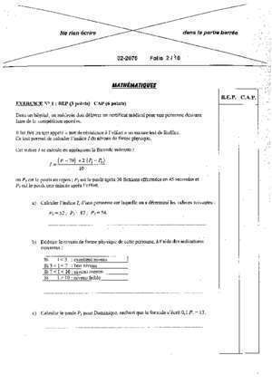 Cap maths sciences session 201 : Mathematiques Sciences physiques 2002 Lille Bankexam fr