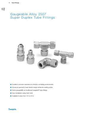 2507 : Gaugeable Alloy 2507 Super Duplex Tube Fittings (MS-01