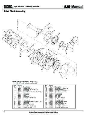 94432 : 535-Manual Parts List 11 01 North State