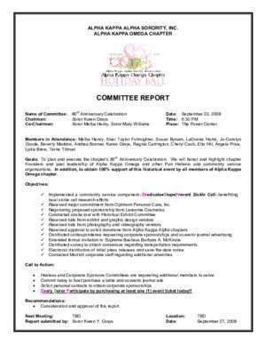 COMMITTEE REPORT - Alpha Kappa Omega