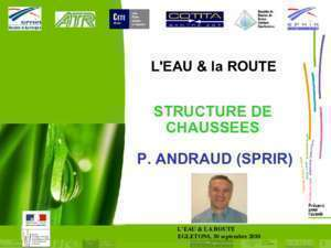 Calcul chaussee : STRUCTURE DE CHAUSSEES P ANDRAUD (SPRIR)