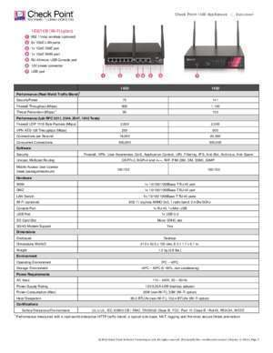 1400 1470 : 1400 Appliances Datasheet Check Point Software