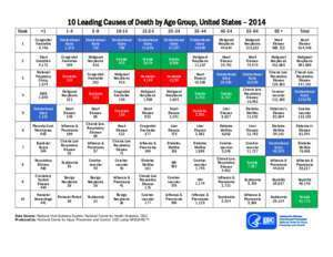 Leading Causes of Death by Age Group United States