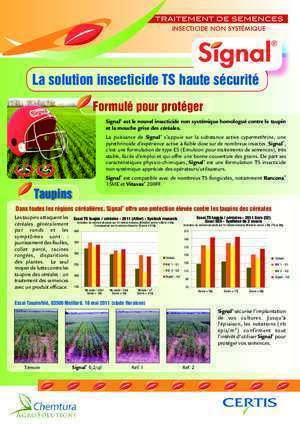 Insecticide : La solution insecticide TS haute sécurité Certis Europe
