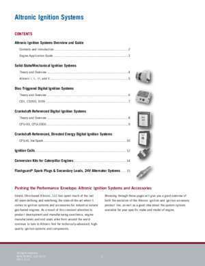 Altronic : Ignition Systems for Industrial Engines Altronic, LLC