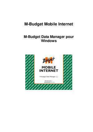 M-Budget Mobile Data Manager - Migros