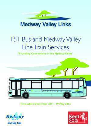 1504 151 : 151 Bus and Medway Valley Line Train Services