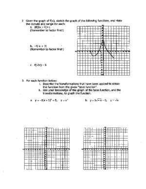 80b : Worksheet Graphing Transformations Cerritos College