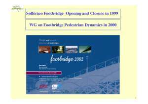 Amortisseur traffic 2 : VIBRATION OF FOOTBRIDGES UNDER PEDESTRIAN LOADS
