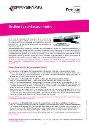 C15 52 : Section du conducteur neutre Prysmian Group