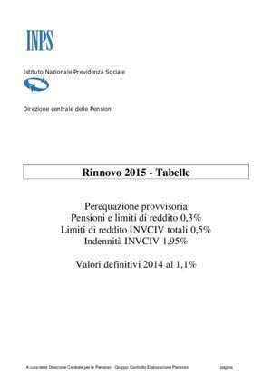 3 pagina 3 : Rinnovo 2015 Tabelle INPS