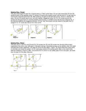 Basketball set plays against man to man : Basketball Plays Sideline Out-of-Bounds Plays -- pdf