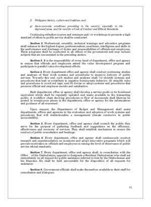 6713 : Implementing Rules of RA No 6713 Department of Labor