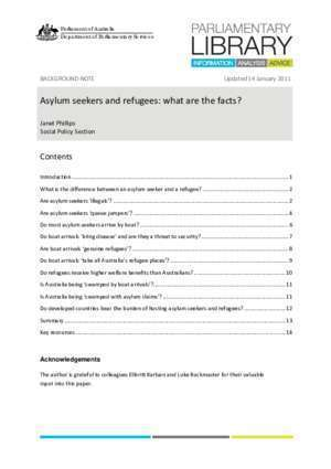 Asylum : Asylum seekers and refugees what are the facts