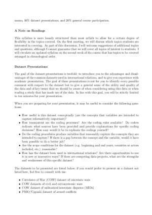 617 9 : Political Science 617 Topics and Debates in International