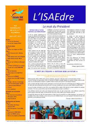 Boccheciampe : Bulletin ISAEdre n°21 édition juillet 2015 Amicale ISAE-SUPAERO