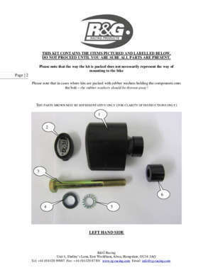 1000 cbr rr manuel 2 : Fitting instructions for cp0228 crash protectors R&G