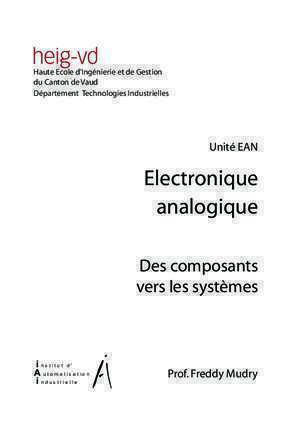Analyse circuits a transistor : Electroniqueanalogique freddy mudry org